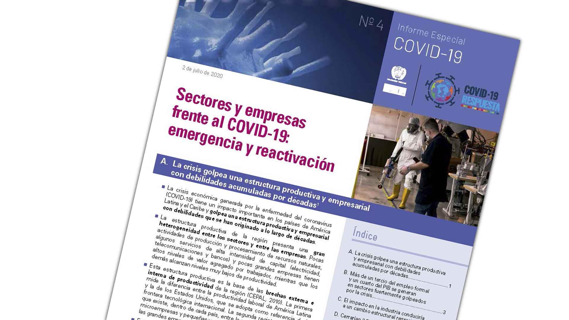 Portada Informe Especial COVID No. 4