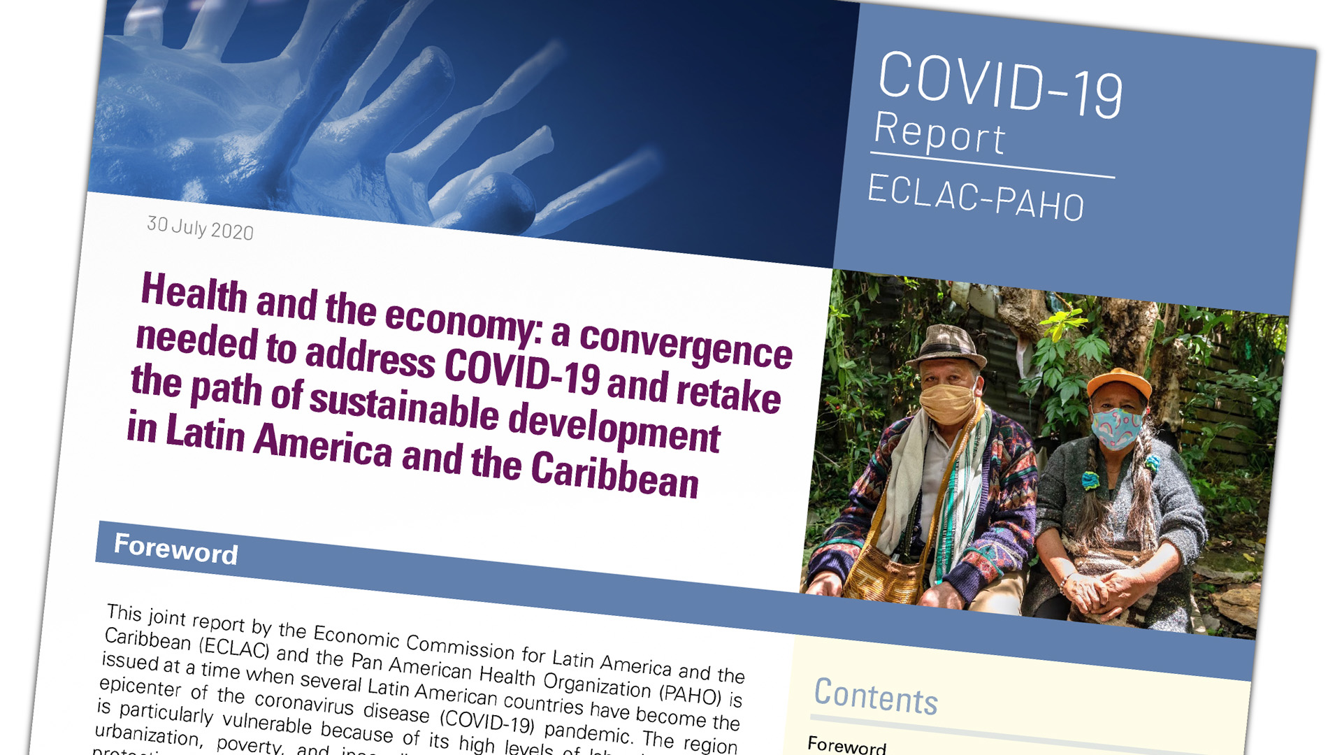 Cover ECLAC-PAHO report