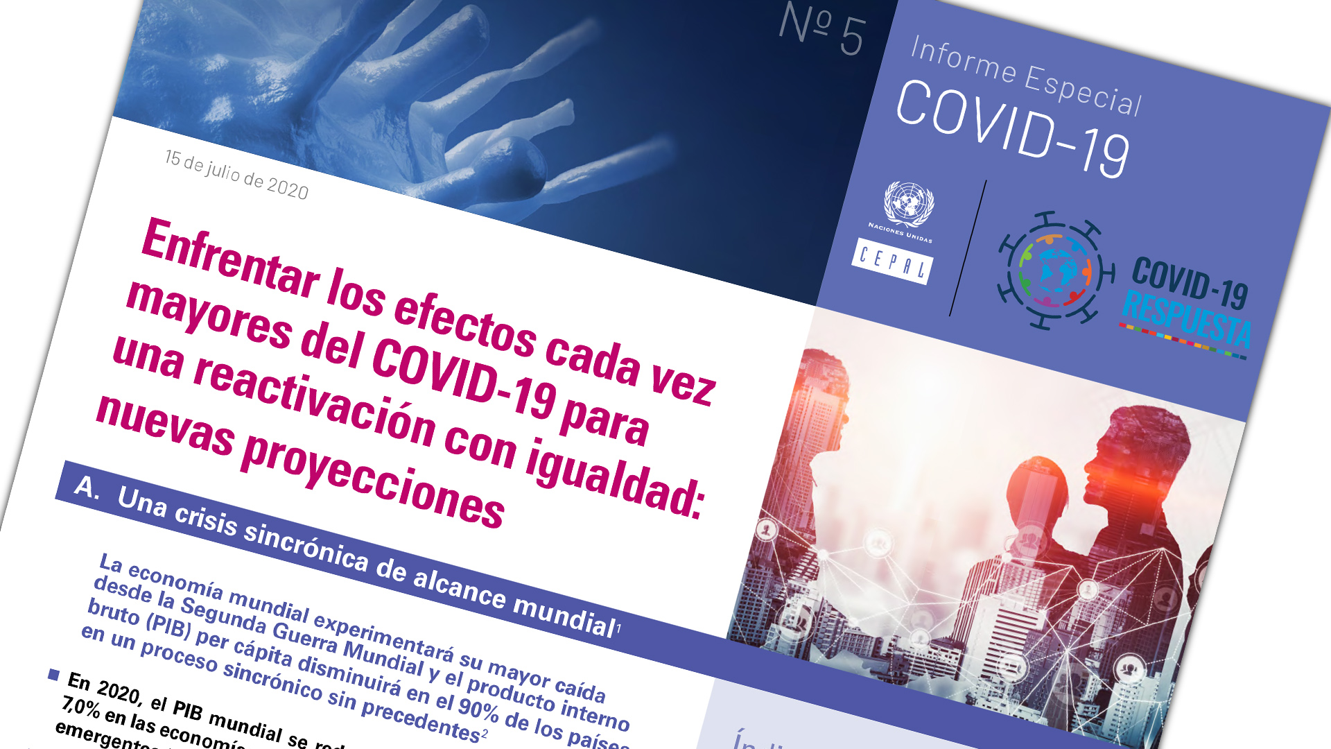 Portada Informe Especial COVID No. 5