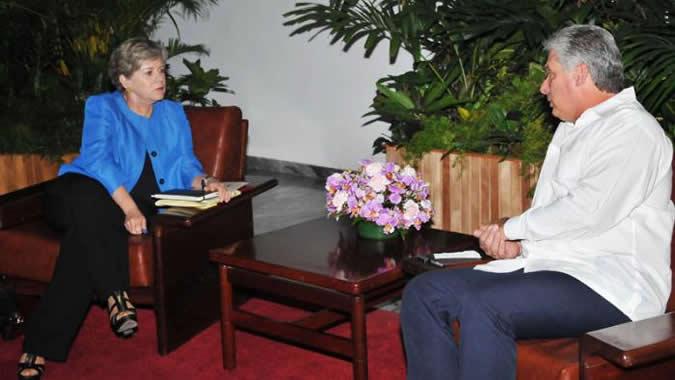 Reunión de la Secretaria Ejecutiva de la CEPAL con el Primer Vicepresidente de Cuba.