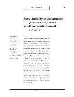 Accountability in government programmes to promote small and medium-sized enterprises