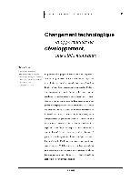 Changement technologique et opportunités de développement, une cible mouvante