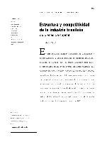 Estructura y competitividad de la industria brasileña de bienes de capital