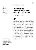 Institutions and public policies for rural development in Guatemala