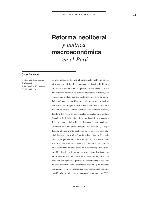 Reforma neoliberal y política macroeconómica en el Perú