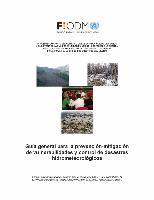 Guía general para la prevención-mitigación de vulnerabilidades y control de desastres hidrometeorológicos