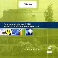 Principales logros de 2010: informe de actividades bienio 2008-2009