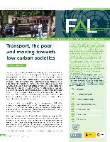 Transport, the poor and moving towards low-carbon societies