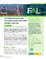 Institutional framework, co-modality and sustainable transport services