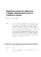 Expectativas y producción industrial en el Uruguay: interdependencia sectorial y tendencias comunes