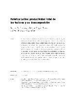 América Latina: productividad total de los factores y su descomposición