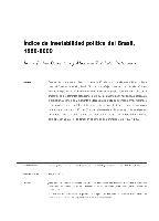 Índice de inestabilidad política del Brasil, 1889-2009