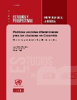 Políticas sociales diferenciadas para las ciudades en Colombia: una nueva generación de políticas sociales