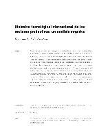 Dinámica tecnológica internacional de los sectores productivos: un análisis empírico