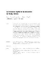 La inclusión digital en la educación de Tarija, Bolivia