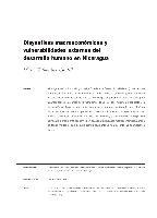 Disyuntivas macroeconómicas y vulnerabilidades externas del desarrollo humano en Nicaragua