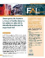 Desempeño de América Latina y el Caribe durante los primeros años de la década de acción por la seguridad vial