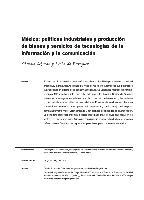 México: políticas industriales y producción de bienes y servicios de tecnologías de la información y la comunicación