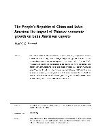 The People's Republic of China and Latin America: the impact of Chinese economic growth on Latin American exports