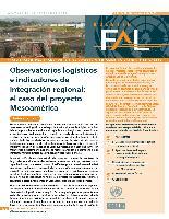 Observatorios logísticos e indicadores de integración regional: el caso del proyecto Mesoamérica