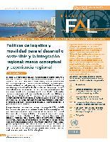Políticas de logística y movilidad para el desarrollo sostenible y la integración regional: marco conceptual y experiencia regional