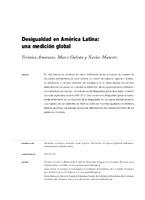 Desigualdad en América Latina: una medición global