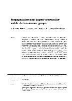 Paraguay: a housing finance proposal for middle- to low-income groups