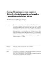 Segregación socioeconómica escolar en Chile: elección de la escuela por los padres y un análisis contrafactual teórico