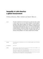 Inequality in Latin America: a global measurement