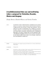 A multidimensional time use and well-being index: a proposal for Colombia, Ecuador, Mexico and Uruguay