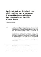 South-South trade and South-North trade: which contributes more to development in Asia and South America? Insights from estimating income elasticities of import demand