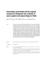 Community, connectivity and the regional movement in Patagonia: the evolution of social capital in the Aysén Region of Chile