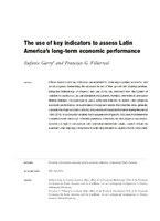 The use of key indicators to assess Latin America's long-term economic performance