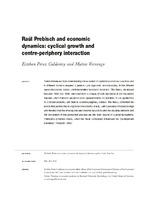 Raúl Prebisch and economic dynamics: cyclical growth and centre-periphery interaction