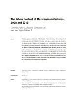 The labour content of Mexican manufactures, 2008 and 2012