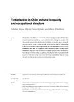 Tertiarization in Chile: cultural inequality and occupational structure