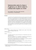 Intersección entre la clase y el género y su efecto sobre la calidad del empleo en Chile