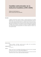 Cambios estructurales en la industria brasileña (1995-2009)