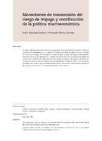 Mecanismos de transmisión del riesgo de impago y coordinación de la política macroeconómica