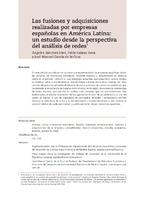 Las fusiones y adquisiciones realizadas por empresas españolas en América Latina: un estudio desde la perspectiva del análisis de redes