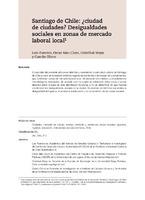 Santiago de Chile: ¿ciudad de ciudades? Desigualdades sociales en zonas de mercado laboral local