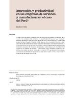 Innovación y productividad en las empresas de servicios y manufactureras: el caso del Perú