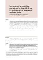 Mergers and acquisitions carried out by Spanish firms in Latin America: a network analysis study