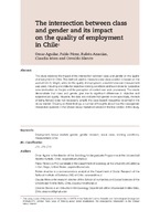 The intersection between class and gender and its impact on the quality of employment in Chile