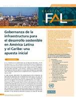 Gobernanza de la infraestructura para el desarrollo sostenible en América Latina y el Caribe: una apuesta inicial