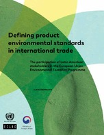 Defining product environmental standards in international trade
