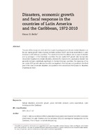 Disasters, economic growth and fiscal response in the countries of Latin America and the Caribbean, 1972-2010
