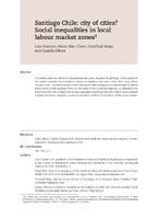 Santiago Chile: city of cities? Social inequalities in local labour market zones