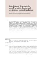 Los sistemas de protección social, la redistribución y el crecimiento en América Latina