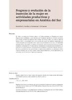 Progreso y evolución de la inserción de la mujer en actividades productivas y empresariales en América del Sur